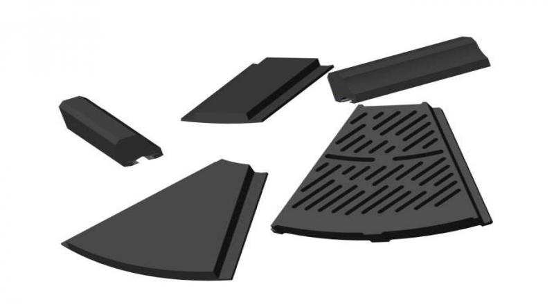 提高橡胶衬板的美观修整采用的方法